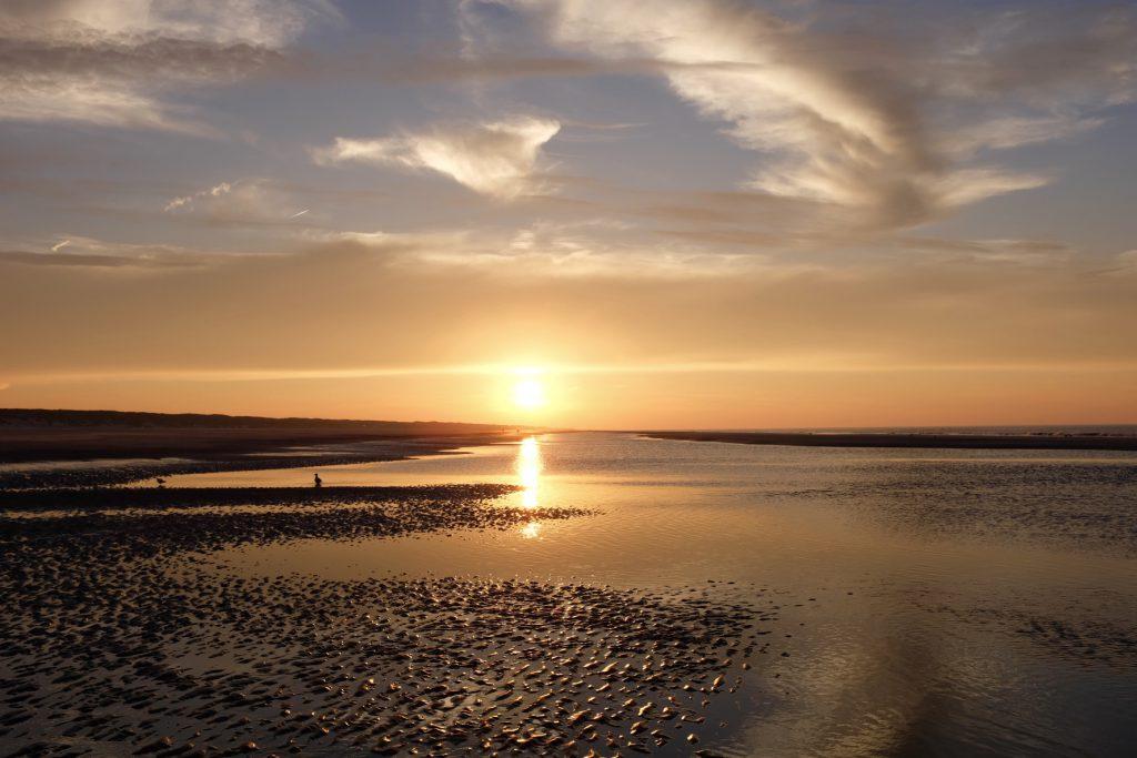 Sonnenuntergang Strand Juist